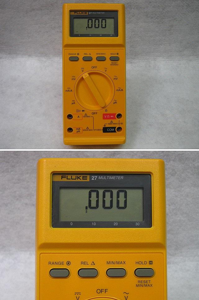 Digital Multimeter Fluke 27 : 계측기 장터 fluke digital multimeter 플루크 디지털 멀티미터